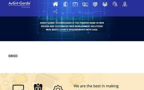 Screenshot of Services Page agtsindia.com - Excellent Services to Boost up your Business - captured Sept. 28, 2018