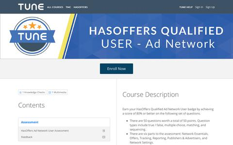 HasOffers Qualified User: Ad Network