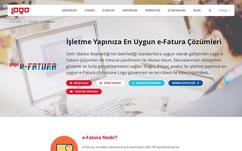 e-Fatura | e-Devlet ve e-Dönüşüm Çözümleri | Logo Yazılım