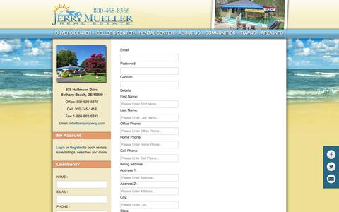 Screenshot of Signup Page sellsproperty.com - Signup - captured Oct. 6, 2014