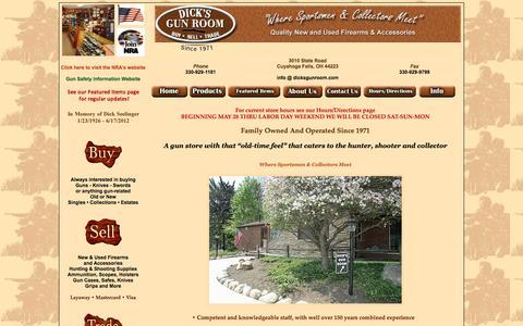 Screenshot of Home Page dicksgunroom.com - Dick's Gun Room Home Page - captured June 18, 2016