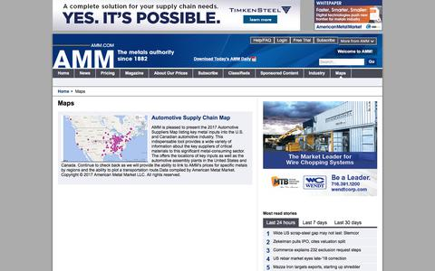 Screenshot of Maps & Directions Page amm.com captured Sept. 23, 2018