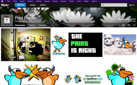 Screenshot of Flickr Page flickr.com - Flickr: PrintPelican.com's Photostream - captured Oct. 22, 2014