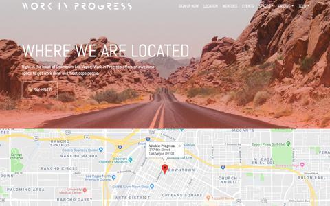 Screenshot of Locations Page workinprogress.lv - Coworking Locations in Las Vegas · Work in Progress - captured Oct. 9, 2018