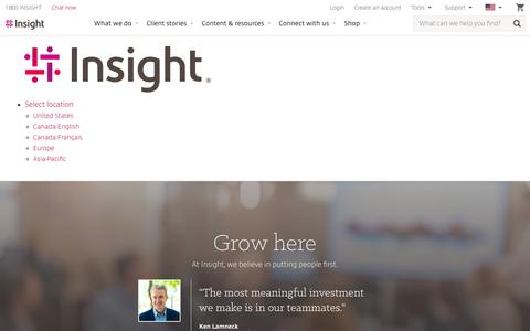 Screenshot of Jobs Page insight.com - Insight Careers & Job Search | Jobs at Insight | Insight - captured Aug. 10, 2019