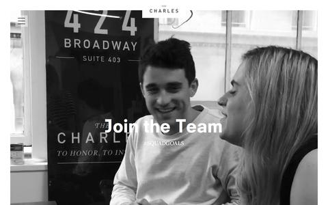 Screenshot of Jobs Page thecharlesnyc.com - Careers | The Charles NYC - captured Oct. 2, 2015