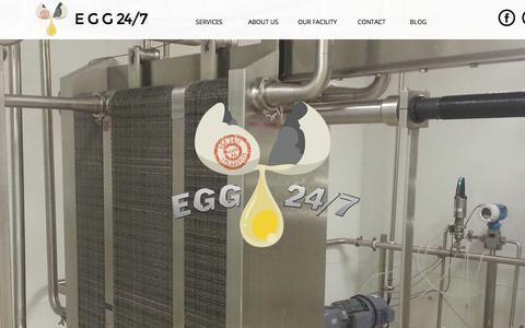 Screenshot of Home Page egg247.com - Bulk Liquid Egg LA California - captured Jan. 26, 2015