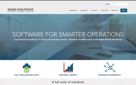 Operations Management Software | Dude Solutions