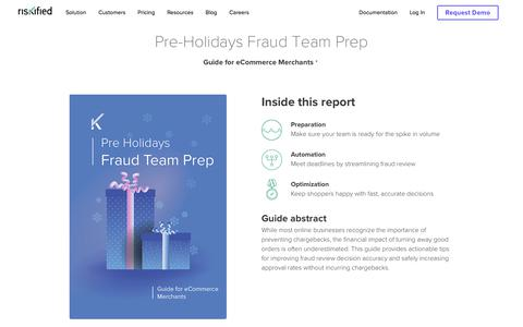 Screenshot of Team Page riskified.com - eCommerce Fraud Prevention Holiday Preparation Guide | Riskified - captured Feb. 20, 2020