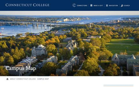 Screenshot of Maps & Directions Page conncoll.edu - Campus Map · Connecticut College - captured Sept. 23, 2018