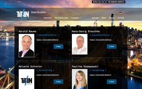 Screenshot of Team Page titan-commerce.com - TITAN Commerce - Unser Team - captured Dec. 11, 2016