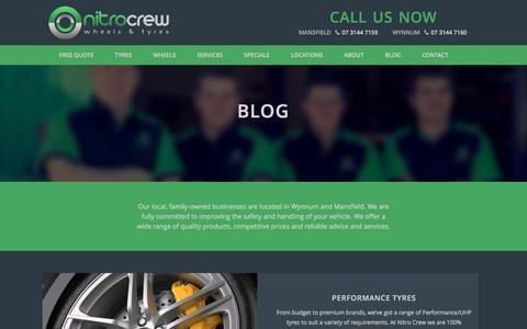 Screenshot of Blog nitrocrew.com.au - Blog title - Nitro Crew - captured Nov. 30, 2016