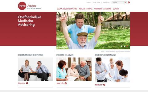Screenshot of Home Page treve.nl - Treve; Advisering bij zorg, wonen en welzijn » Treve - captured July 14, 2017