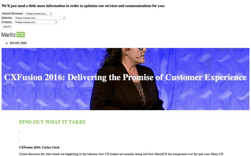 CXFusion 2016: Delivering the Promise of Customer Experience | MaritzCX