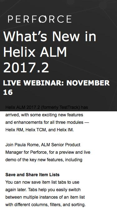 What's New in Helix ALM 2017.2