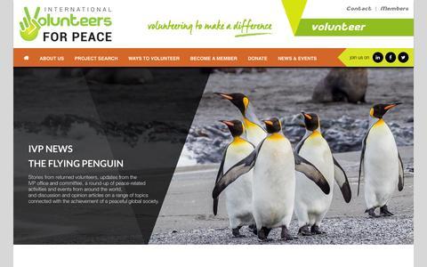 Screenshot of Press Page ivp.org.au - News - International Volunteers for PeaceInternational Volunteers for Peace - captured Feb. 11, 2016