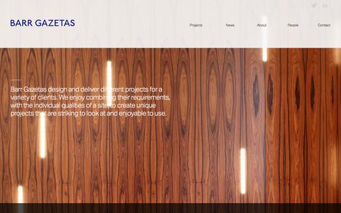Screenshot of Home Page barrgazetas.com - Barr Gazetas Architects London - captured Dec. 29, 2015