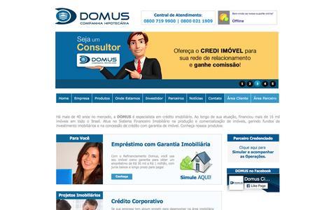 Screenshot of Home Page ciadomus.com.br - DOMUS - Empréstimo com Garantia Imobiliária - captured Aug. 23, 2016