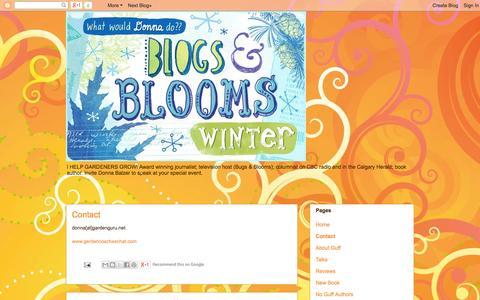 Screenshot of Contact Page donnabalzer.blogspot.com - Blogs & Blooms: Contact - captured Oct. 5, 2014