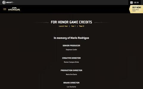 Screenshot of Pricing Page ubisoft.com - For Honor: Now on PS4, Xbox One & PC | Ubisoft (US) - captured Nov. 8, 2019