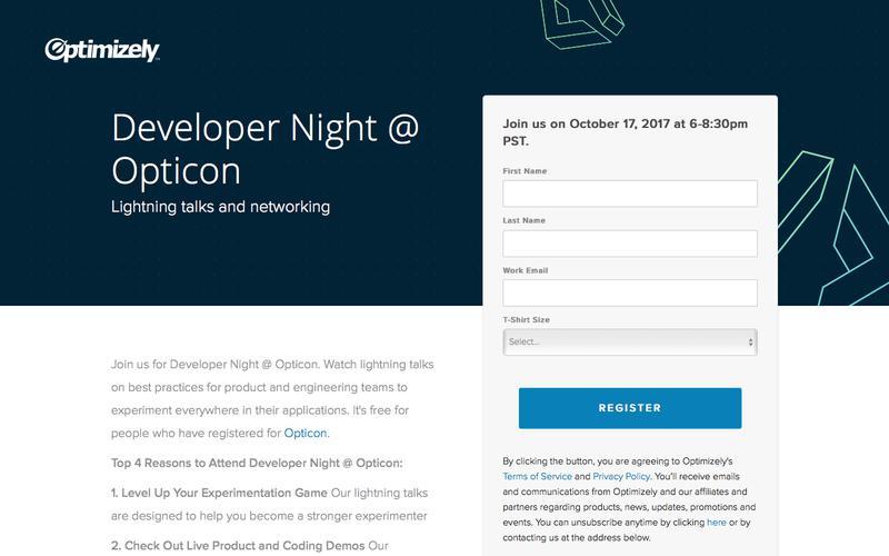 Developer Night @ Opticon