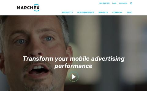 Screenshot of Home Page marchex.com - Marchex: Transform Mobile Advertising Performance - captured Oct. 21, 2015