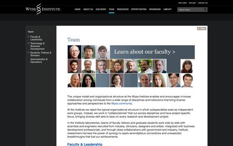 Screenshot of Team Page harvard.edu - Team : Wyss Institute at Harvard - captured Sept. 13, 2014