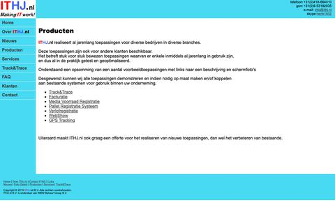 Screenshot of Products Page ithj.nl - ITHJ.nl Producten - captured Oct. 11, 2018