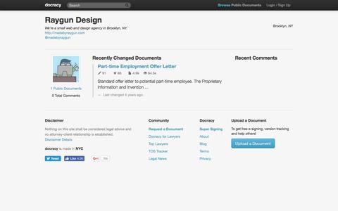 Screenshot of docracy.com - Raygun Design Profile - captured May 14, 2017