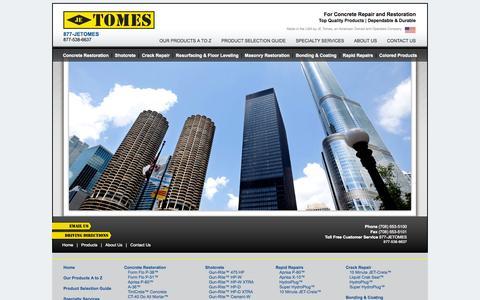 Screenshot of Home Page jetomes.com - JE Tomes  |  Concrete Restoration - captured Oct. 3, 2014