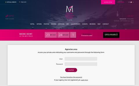 Screenshot of Login Page modesathorn.com - Access to agencies' private area Mode Sathorn - captured Sept. 22, 2018