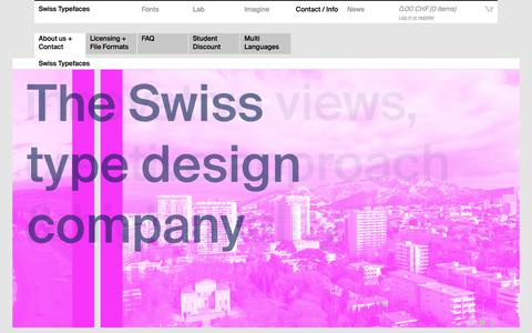 Screenshot of About Page swisstypefaces.com - About Us + Contact - Swiss Typefaces - captured Oct. 11, 2017
