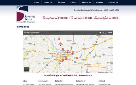 Screenshot of Contact Page Locations Page scheffelboyle.com - Contact Us | Scheffel Boyle | Scheffel Boyle - captured Oct. 23, 2014