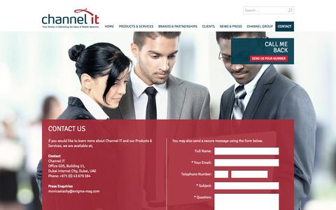 Screenshot of Contact Page channelit.com - Contact Us | Channel IT - captured Sept. 29, 2014