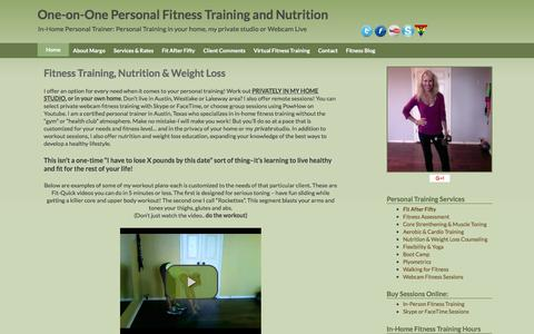 Screenshot of Home Page personal-fitness-trainer-austin.com - Personal Trainers Austin Lakeway Westlake In Person Training - captured April 14, 2017