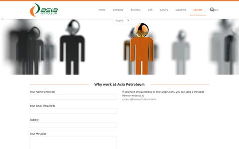 Screenshot of Jobs Page asiapetroleum.com - Careers   Asia Petroleum - captured Oct. 8, 2017