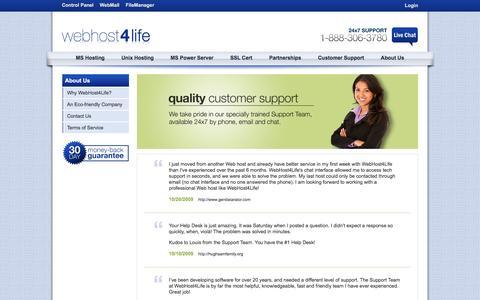 Screenshot of Testimonials Page webhost4life.com - WebHost4Life | Testimonials - captured Jan. 27, 2017