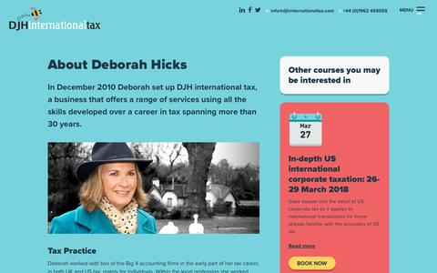 Screenshot of About Page djhinternationaltax.com - About - DJH International Tax - captured June 3, 2017
