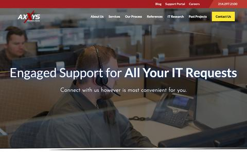 Screenshot of Support Page axxys.com - Support Portal - Axxys Technologies - captured Dec. 18, 2018