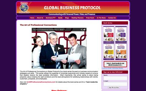 Screenshot of Products Page globalbusinessprotocol.com - The Art of Professional Connections | Global Business Protocol - captured Oct. 3, 2014
