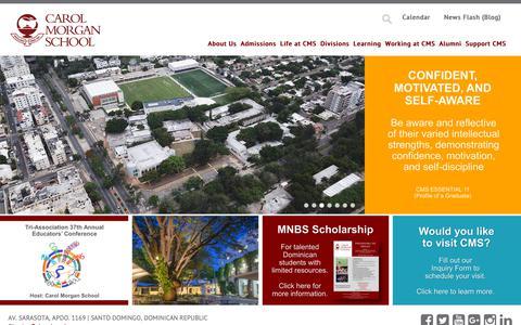 Screenshot of Home Page cms.edu.do - Carol Morgan School | - captured Sept. 27, 2018