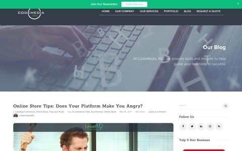 Screenshot of Blog codemedia360.com - CodeMedia 360 | Blog - Everything At Your Fingertips - captured Sept. 3, 2017