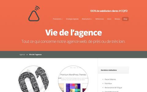 Screenshot of Blog agence-tipi.fr - Tout ce qui concerne notre agence web, de près ou de très loin. | Web, SEO et social media agency - captured Oct. 30, 2017
