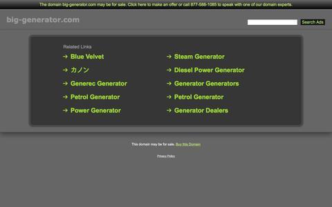 Screenshot of Home Page big-generator.com - Big-Generator.com - captured March 9, 2017