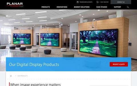 Screenshot of Products Page planar.com - Digital Signage & Custom Digital Display Solutions | Planar - captured Nov. 20, 2018
