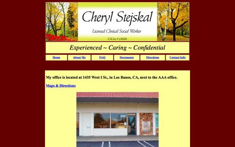 Screenshot of Maps & Directions Page losbanoscounseling.com - Los Banos Counseling - Directions - captured Oct. 1, 2014