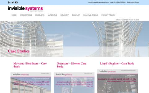 Screenshot of Case Studies Page invisible-systems.com - » Case Studies - captured Sept. 20, 2018