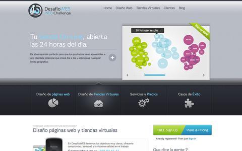 Screenshot of Home Page desafioweb.com - Diseño páginas web y tiendas virtuales - captured Sept. 26, 2014