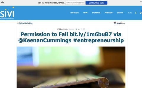 Screenshot of Blog sivi.com - Blog - captured Dec. 18, 2015