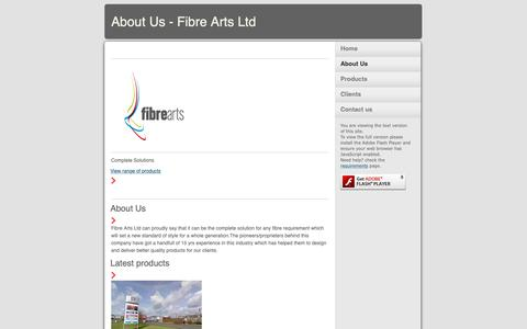 Screenshot of About Page fibrearts.uk.com - About Us - Fibre Arts Ltd - captured Oct. 10, 2018